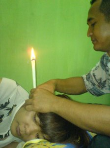 ear candle terapi di griya terapi sehat @ 090321